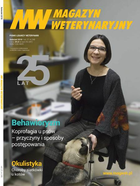 Jagna Kudła na okładce Magazynu Weterynaryjnego 04/2018